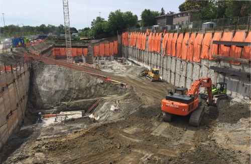Excavation and shoring work for Bessarion Community Centre
