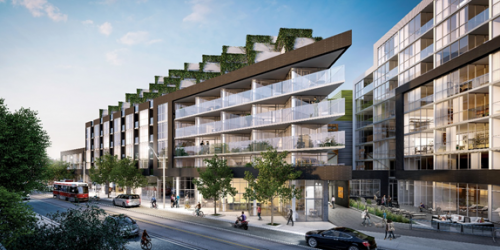 image of condominium at 38 Howard Park a mixed-use mid-rise residential condominium and retail building