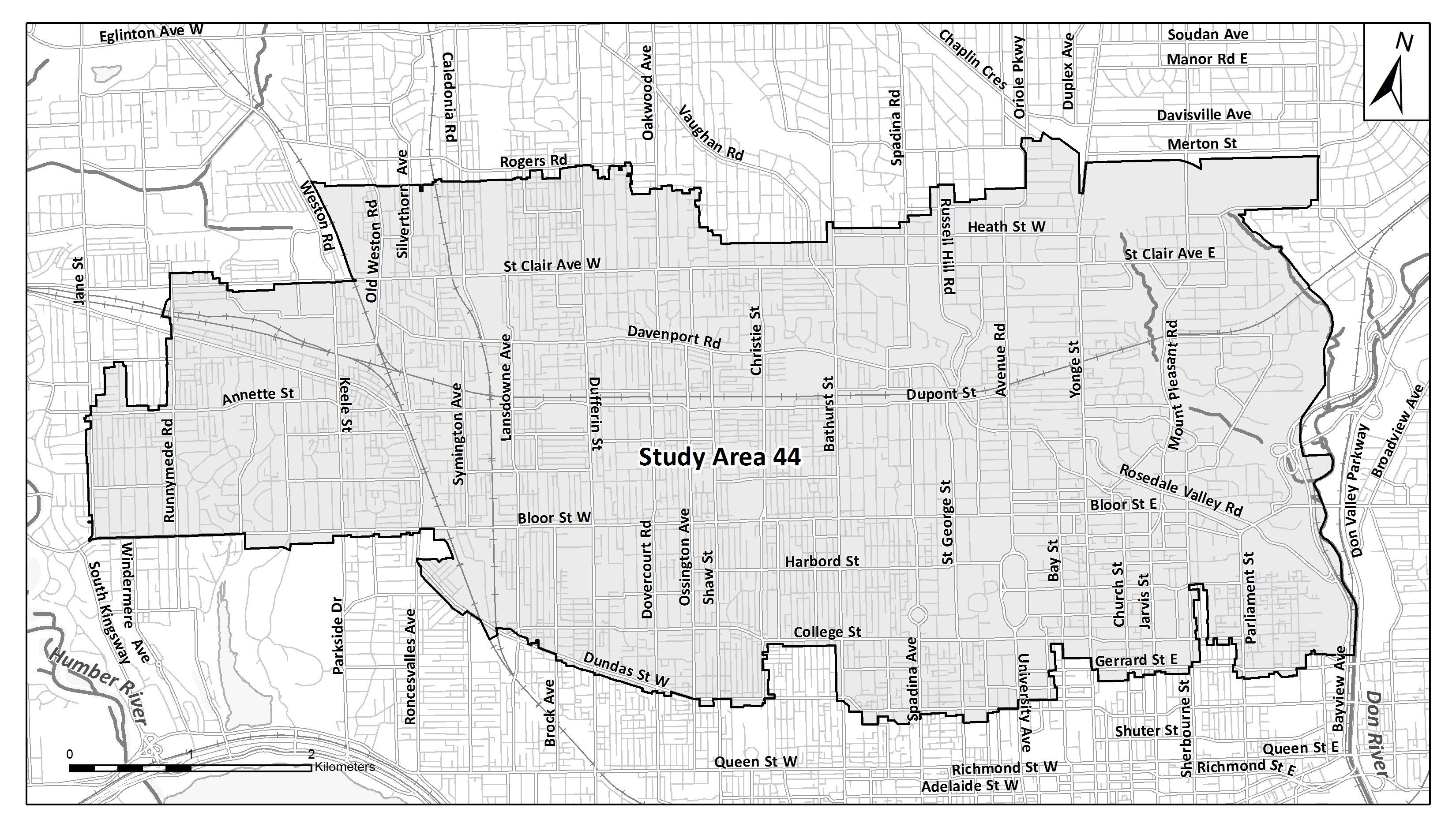 Map of Basement Flooding Study Area 62. If you require assistance reading this map, please contact the Public Consultation Unit at 416-392-8210.