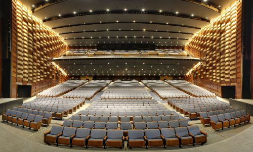 Sony Centre audience seating, view from stage.