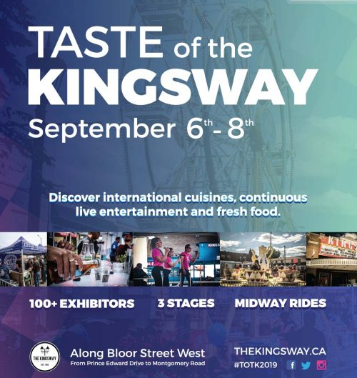 Taste of the Kingsway event poster