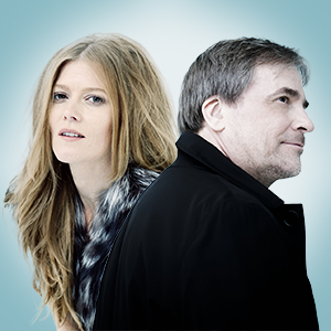 Two people - Canadian soprano and conductor Barbara Hannigan, and Finnish conductor and violinist John Storgårds.