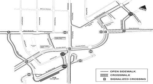 Map of open sidewalks