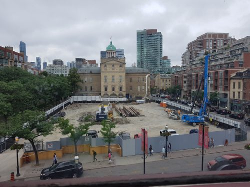 Construction progress at North St. Lawrence Market as of September 2019.