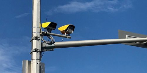 Automated speed enforcement cameras on street