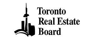 Black and white logo of Toronto Real Estate Board
