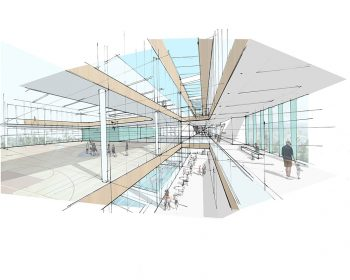A rendering of the interior of the North East Scarborough Community Centre
