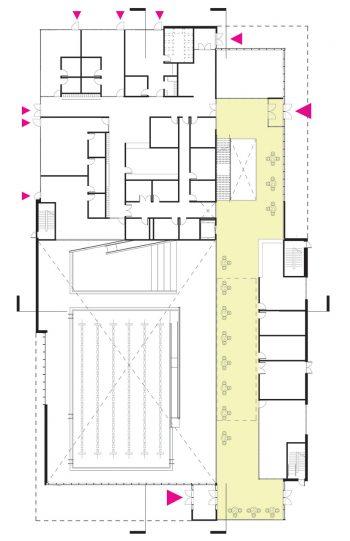 The floor plan of level 1
