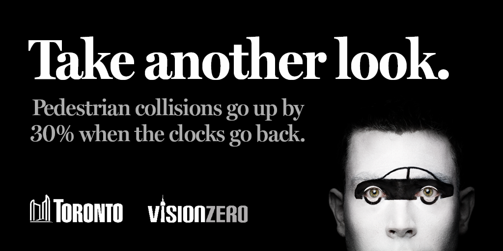Take another look. Pedestrian collisions go up by 30% when the clocks go back.