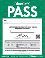 DineSafe Pass Notice
