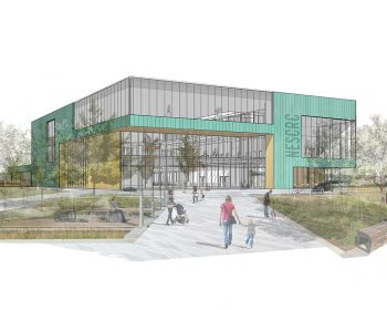 A rendering of the exterior of the building viewed from Sheppard Avenue