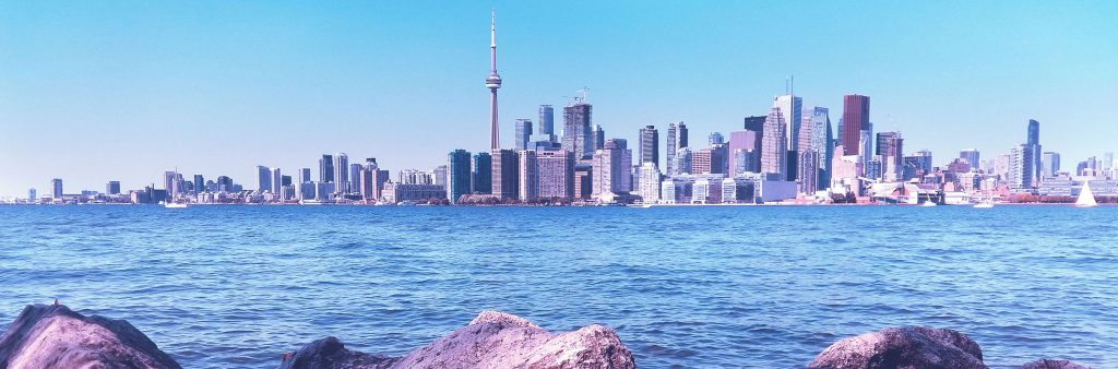 View of Toronto skyline from the Toronto Islands