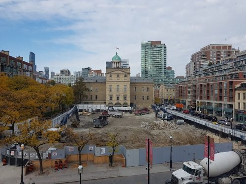 North St. Lawrence Market Construction