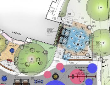 This is a thumbnail image showing the concept plan of the George Walsh Playground within Trace Manes Park.