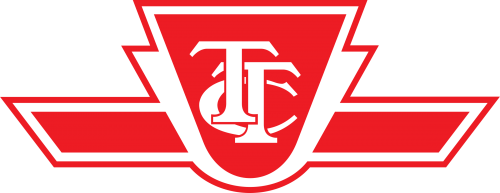 TTC Logo: the word TTC inside a red upside down triangle with a red rectangle with slanted angles coming out of the bottom of the triangle