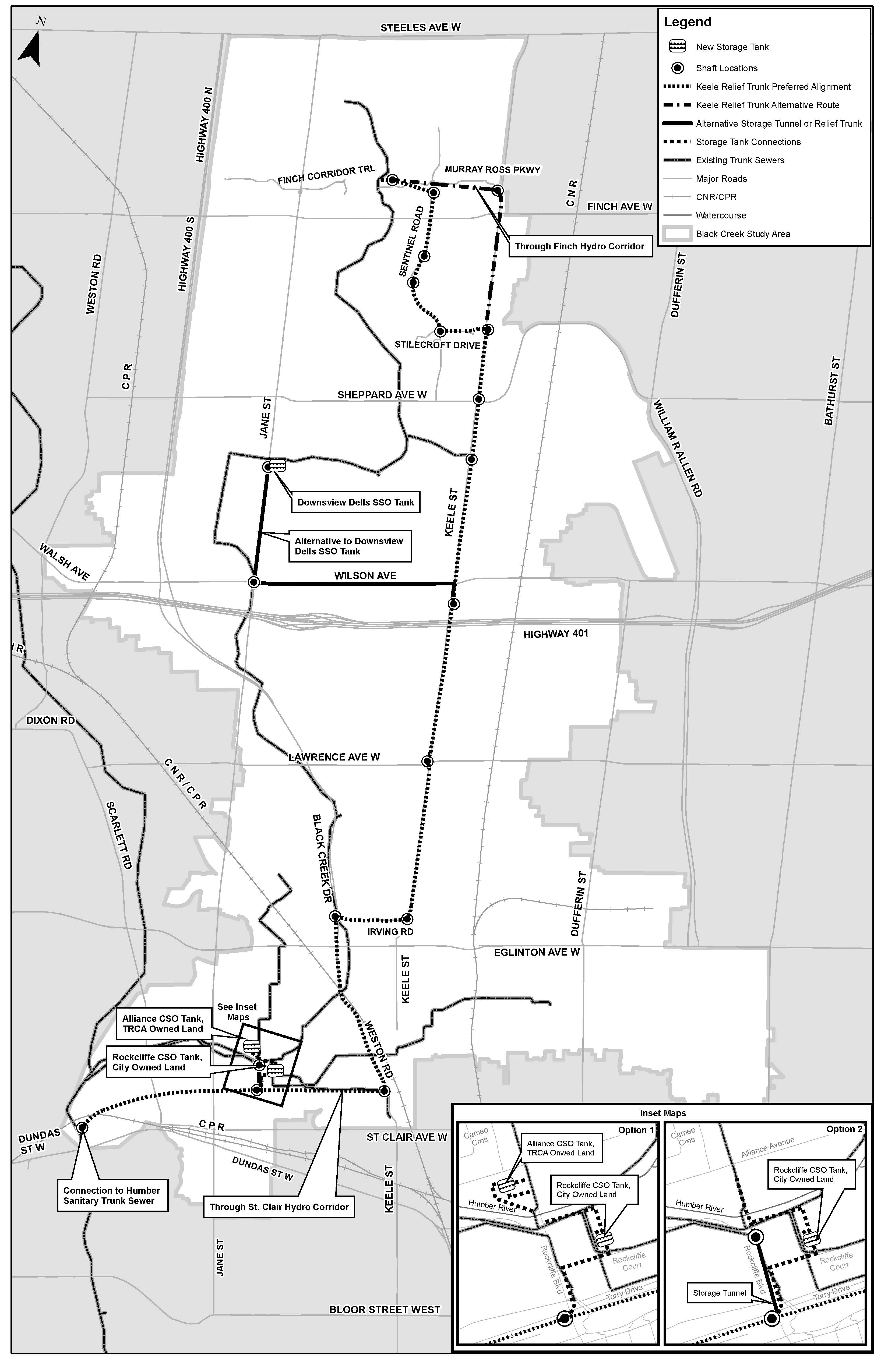 Black Creek STS Study Area Map