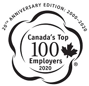 Image of the 20th anniversary Canada's Top 100 Employers for 2020