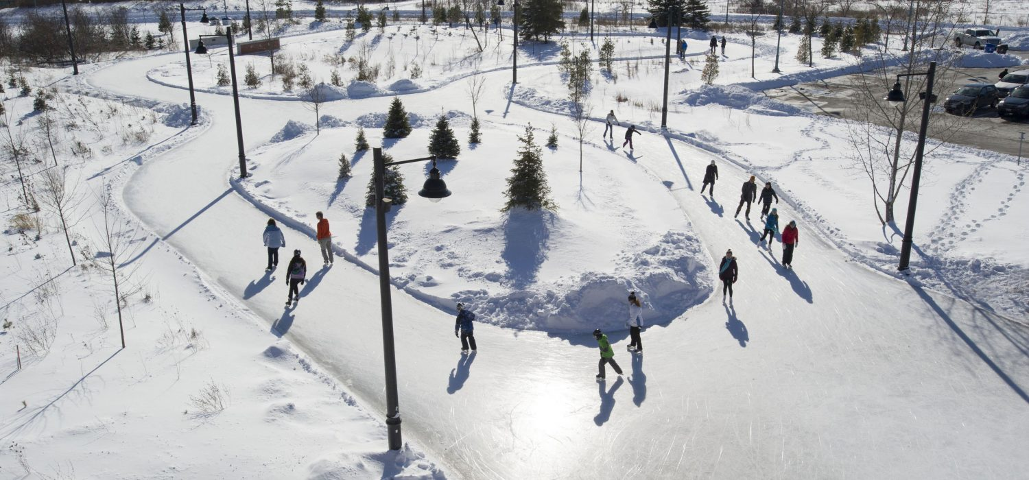 Ice skating trail at Colonel Samuel Smith Park