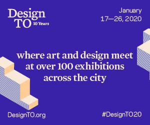 Event poster - purple background, white text. Design TO logo in upper left corner.