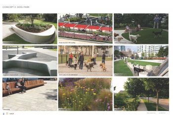 Image examples of individual park features proposed in Concept 2.