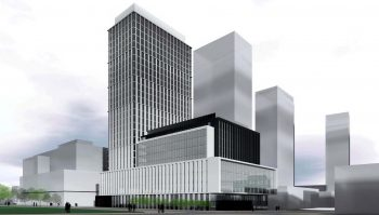Rendering of the proposal for Crosstown Block 5A