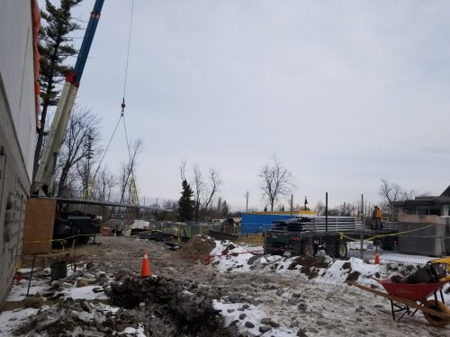 Construction site of the arts and cultural facility at Guild Park and Gardens – The Clark Centre for the Arts