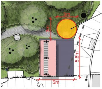 detail of art placement for Joshua Glover Park