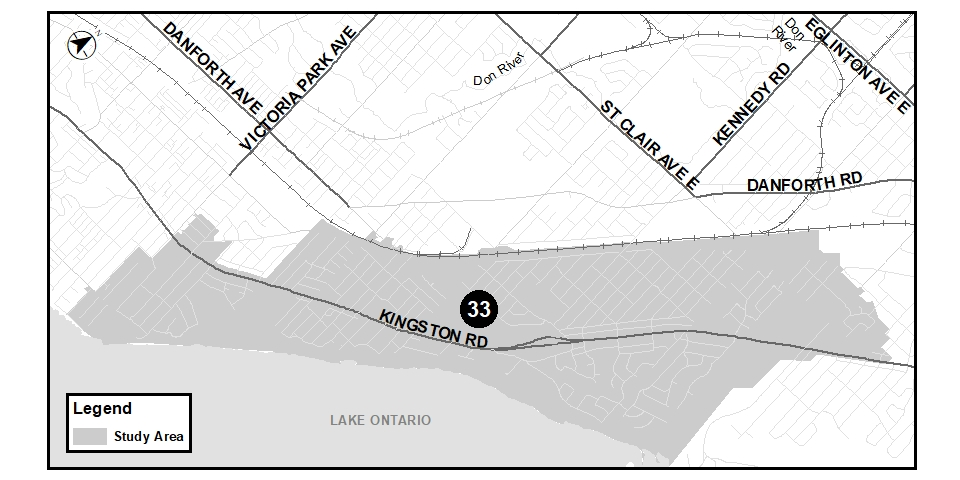 If you have trouble reading this map, please contact mae.lee@toronto.ca, 416,392-8210