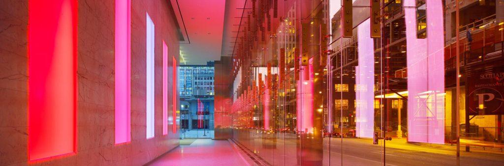 James Turrell, Straight Flush, 2009.. Light installation