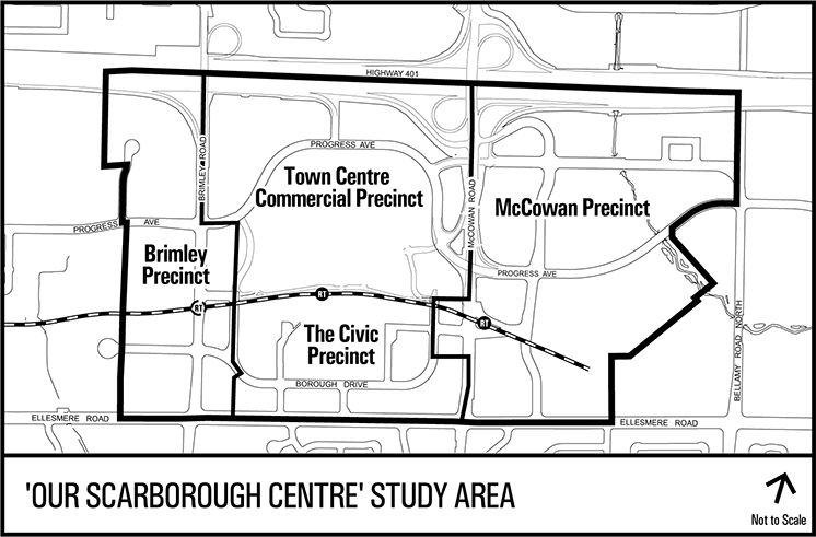Map of Our Scarborough Centre Study Area
