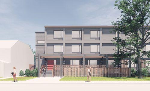 Modular Transitional Housing PHASE 1 : 150 Harrison Street The Front Porch Pergola