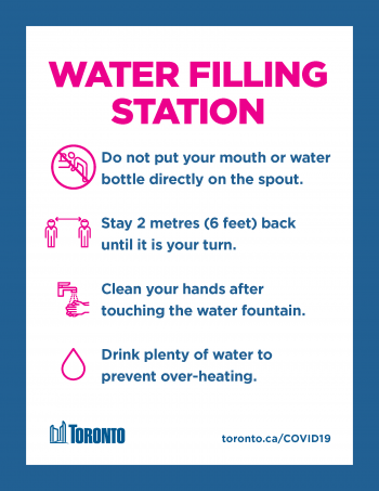 screenshot of water filling station poster