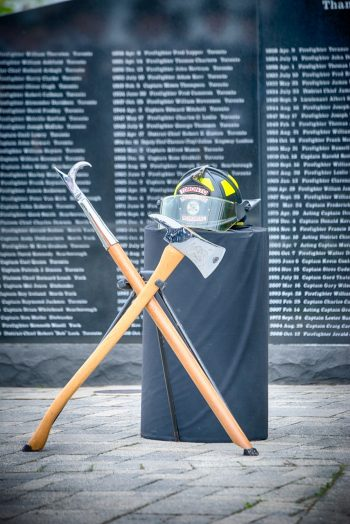 This is an image of the 2019 Toronto Firefighters Memorial Ceremony at HTO Park, Queens Quay West