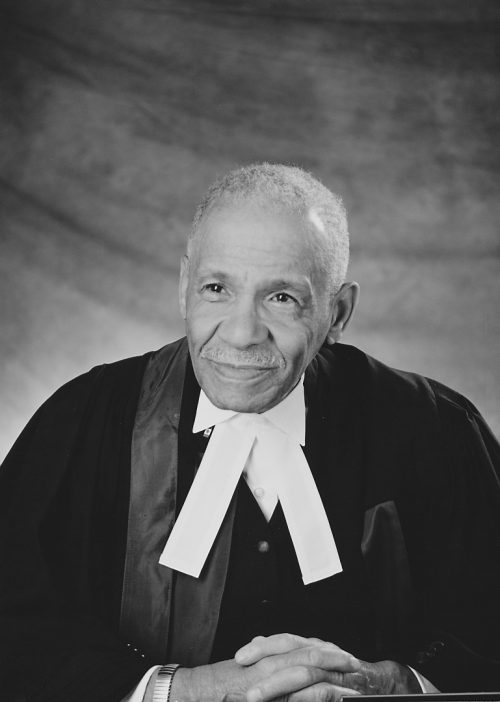 Portrait of Stanley Grizzle in judges robes