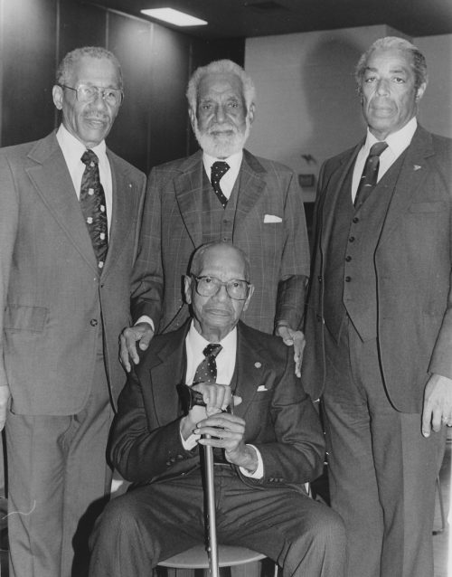 Portrait of Donald Moore, Stanley Grizzle, Harry Gairey and Bromley Armstrong