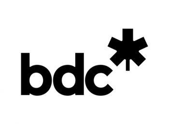 BDC logo in black and white