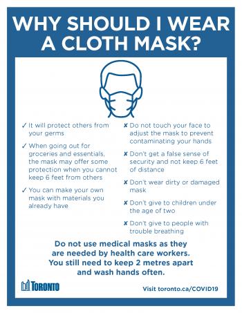 screenshot of why should I wear a cloth mask poster