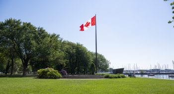 Canadian Flag Flying at Coronation Park
