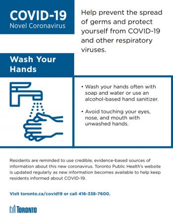 Screenshot of a hand washing poster.