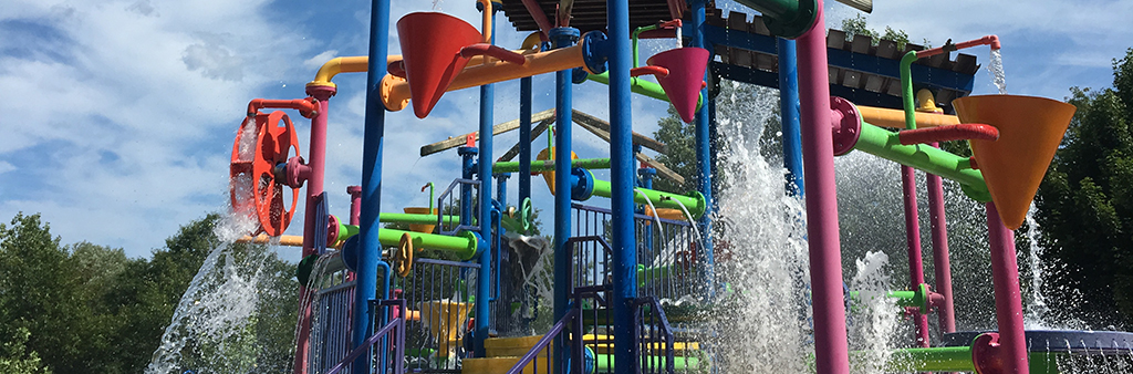 Waterplay features at Kidstown Water Park
