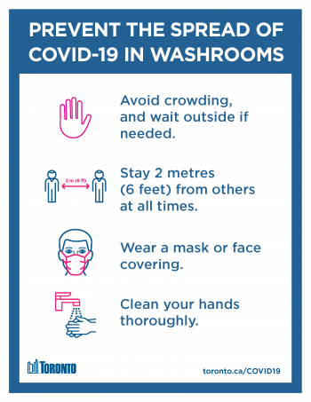 screenshot of prevent the spread of covid-19 in washrooms poster