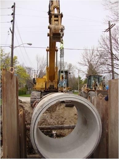 sewer upsize installation