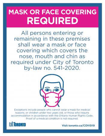 screenshot of mandatory mask poster
