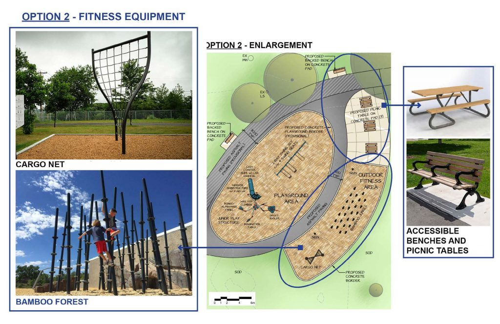 This shows fitness equipment option 2, which is climbable and adventurous in nature.