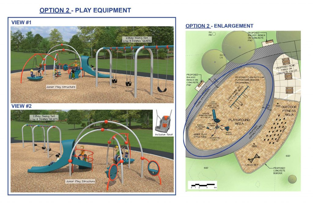 This shows playground equipment option 2, which is for a younger user group.