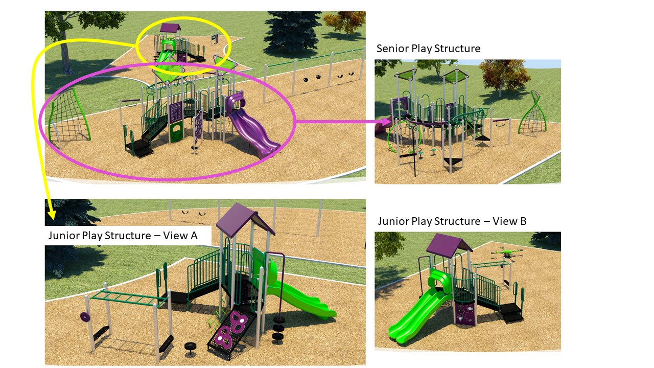 Bob Loptson Playground Redesign Option 3, as described in the text that follows.