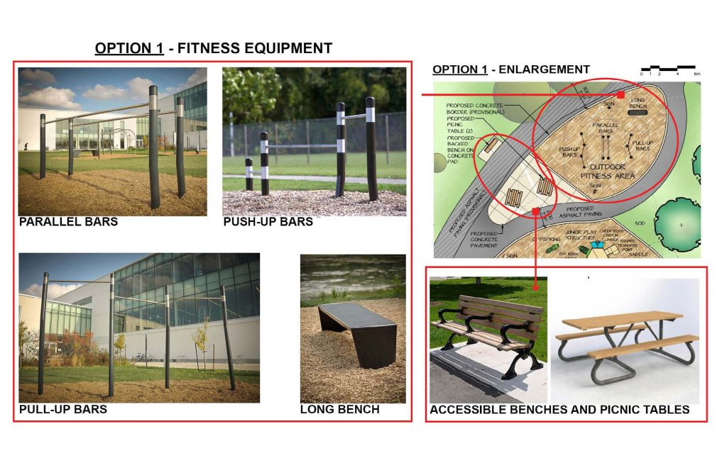 This shows fitness equipment option 1, which is traditional in nature.