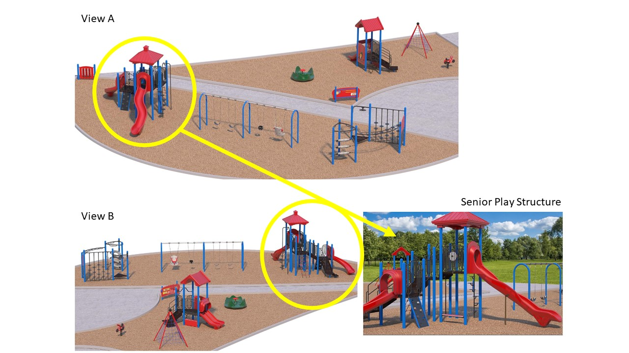 Bob Loptson Playground Redesign Option 2, as described in the text that follows.