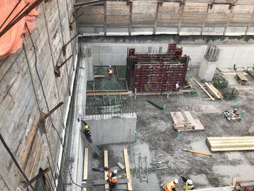 Southeast elevator core underway.