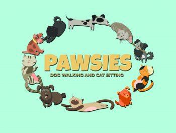 Logo for Pawsies Dog Walking and Cat Sitting